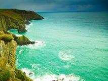 Paesaggio irlandese Paesaggio della costa dell'Oceano Atlantico della linea costiera Immagine Stock Libera da Diritti