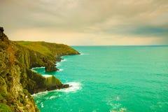 Paesaggio irlandese Paesaggio della costa dell'Oceano Atlantico della linea costiera Immagine Stock