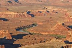 Paesaggio irregolare del parco nazionale di Canyonlands Fotografie Stock Libere da Diritti