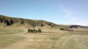 Paesaggio in Islanda stock footage