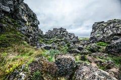 Paesaggio islandese roccioso immagini stock libere da diritti
