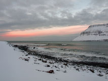 Paesaggio islandese - tramonto fotografia stock libera da diritti
