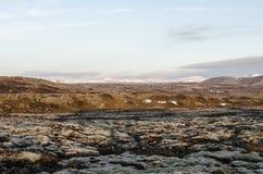 Paesaggio islandese, vulcanico e bello Immagini Stock