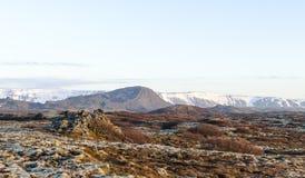 Paesaggio islandese, vulcanico e bello Fotografie Stock
