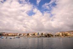 Paesaggio in isole Canarie vulcaniche tropicali Spagna fotografia stock