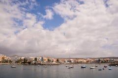 Paesaggio in isole Canarie vulcaniche tropicali Spagna immagini stock