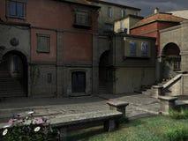 Paesaggio italiano della via Fotografie Stock Libere da Diritti