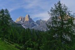 Paesaggio italiano delle dolomia Fotografia Stock Libera da Diritti