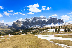 Paesaggio italiano delle dolomia Gruppo di Sella Fotografia Stock
