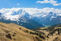 Paesaggio italiano delle dolomia Gruppo di Sella Immagini Stock