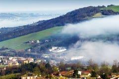 Paesaggio italiano nelle montagne di Apennines Fotografia Stock Libera da Diritti