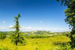 Paesaggio italiano: Paesaggio di Piacenza fotografie stock