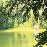 paesaggio Lago Synevir nei Carpathians Fotografia Stock