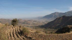 Paesaggio laterale del paese nel Yemen Fotografia Stock Libera da Diritti