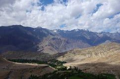 Paesaggio in Likir, in Ladakh Fotografia Stock