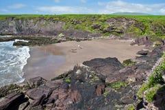 Paesaggio litoraneo irlandese scenico di vista sul mare della spiaggia Immagine Stock Libera da Diritti