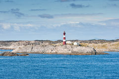 Paesaggio litoraneo norvegese Immagine Stock Libera da Diritti
