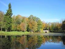 Paesaggio lituano di autunno Fotografie Stock Libere da Diritti