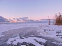 Paesaggio lituano di inverno Immagine Stock Libera da Diritti