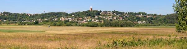 Paesaggio lituano rurale Fotografia Stock