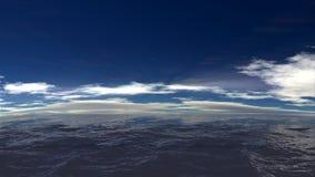Paesaggio luminoso dell'oceano Immagini Stock Libere da Diritti