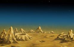 Paesaggio lunare Fotografia Stock Libera da Diritti