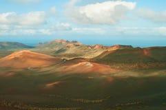 Paesaggio lunare di Lanzarote Immagini Stock