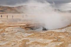 Paesaggio lunare in Islanda Fotografia Stock Libera da Diritti