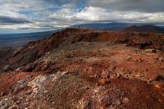 Paesaggio lunare vicino al vulcano di Tolbachik fotografia stock