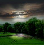 Paesaggio lunatico Fotografia Stock