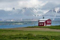 Paesaggio lungo il Eyjafjordur, Islanda Fotografie Stock