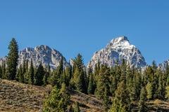 Paesaggio maestoso di Teton Fotografie Stock