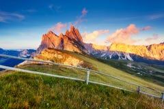 Paesaggio magico della montagna Fotografia Stock