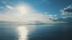 Paesaggio marino con le viste del mare calmo archivi video