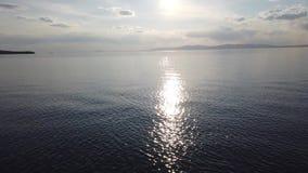 Paesaggio marino con le viste del mare calmo stock footage