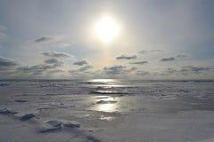 Paesaggio marino di inverno Immagini Stock Libere da Diritti