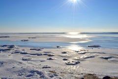 Paesaggio marino di inverno Immagine Stock