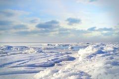 Paesaggio marino di inverno Fotografia Stock