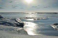 Paesaggio marino di inverno Fotografia Stock Libera da Diritti