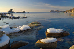Paesaggio marino di mattina. Fotografie Stock
