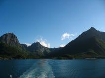 Paesaggio marino nelle isole di Lofoten Fotografia Stock
