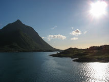 Paesaggio marino nelle isole di Lofoten Immagini Stock