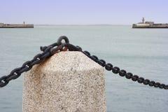 Paesaggio marino a passeggiata di porto Immagine Stock