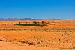 Paesaggio marocchino del deserto Fotografia Stock Libera da Diritti