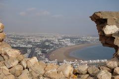 Paesaggio marocchino Vista di oceano Punto di vista a Agadir Fotografia Stock