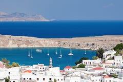 Paesaggio mediterraneo, Rodi (Grecia) Fotografie Stock Libere da Diritti
