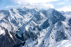 Paesaggio meraviglioso della montagna Fotografia Stock