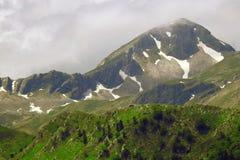 Paesaggio meraviglioso della montagna alla catena montuosa di Pindus, Grecia Fotografie Stock