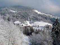 Paesaggio meraviglioso della montagna nell'inverno #1 Fotografie Stock