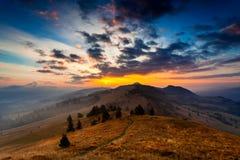 Paesaggio meraviglioso di alba fotografia stock